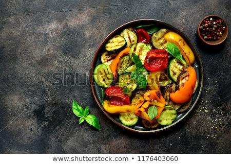 Grillezett zöldségek nyár vegan étel cukkini Stock fotó © furmanphoto