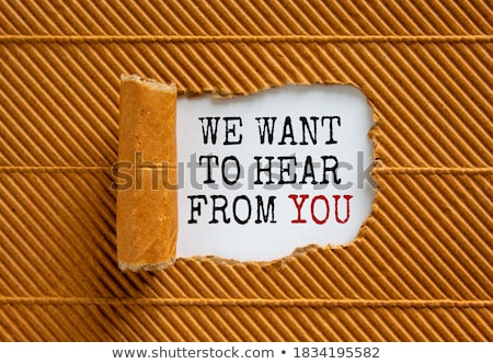 Policy concept text appearing behind brown paper Stock photo © DenisMArt