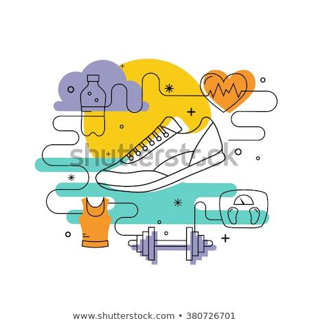фитнес · вектора · спорт · инструменты - Сток-фото © decorwithme