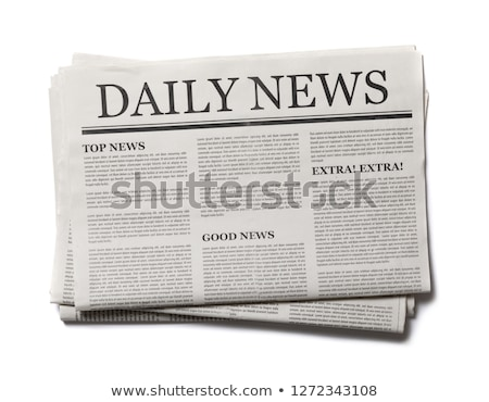 A newspaper on a desk with the headline Newsletter Stock photo © Zerbor