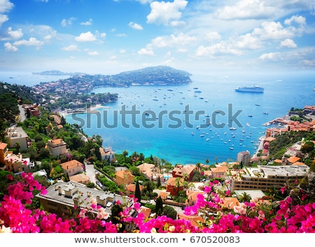 Villefranche sur Mer and Cap Ferrat on French riviera coastline  Stock photo © xbrchx
