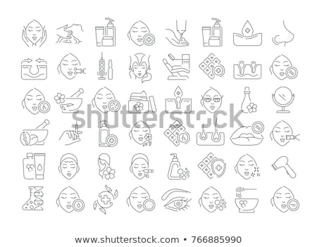 Lip Cosmetology Injection Icon Vector Outline Illustration Stock photo © pikepicture