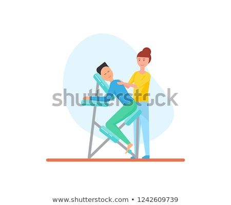 Massagem cadeira massagista cliente estância termal salão Foto stock © robuart