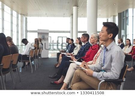 zakenlieden · visitekaartje · conferentie · business - stockfoto © wavebreak_media