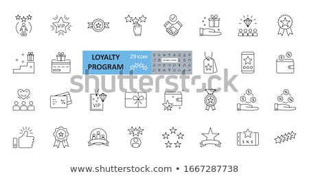 Loyalty Program For Customer Icons Set Vector Stock photo © pikepicture