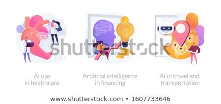 Inteligência artificial implementação vetor metáforas robótico moderno Foto stock © RAStudio