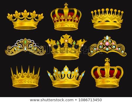 Real dourado coroa decorado atravessar vetor Foto stock © robuart