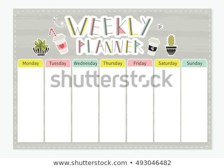 Weekly planner template Stock photo © orson