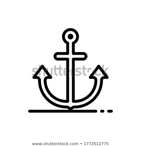Morskich wyposażenie ikona wektora ilustracja Zdjęcia stock © pikepicture