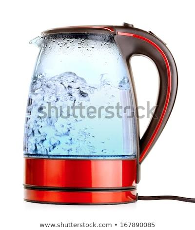 Elektryczne czajnik wody urządzenia odizolowany ikona Zdjęcia stock © robuart
