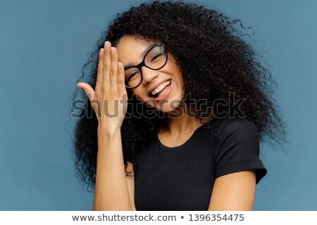 Feliz africano americano mulher testa cabeça Foto stock © vkstudio