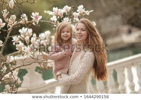 Kobieta córka parku mama umiłowany piersi Zdjęcia stock © ElenaBatkova