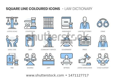 Administratief lineair tekst pijl notebook smartphone Stockfoto © Mazirama