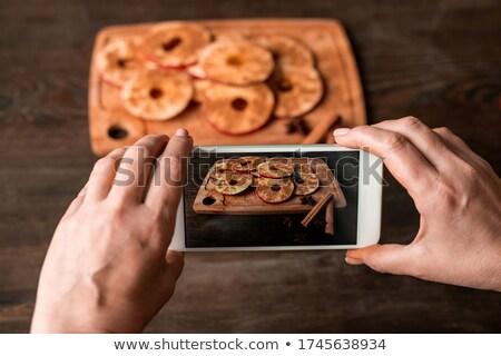 housewife eating a slice of chocolate cake  stock photo © vladacanon