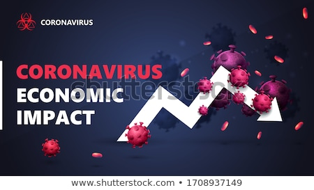 financial crisis due to coronavirus background design Stock photo © SArts