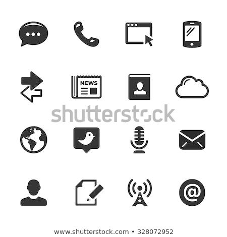 Communication Icons  // Black Series Stock photo © Palsur