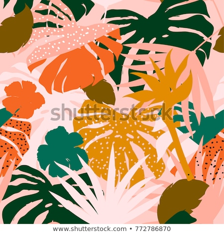 Vektor végtelenített művészi fényes trópusi minta Stock fotó © natali_brill