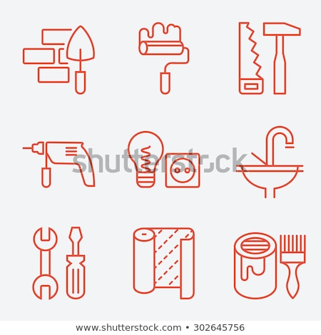 Home repair - line design style icons set Stock photo © Decorwithme