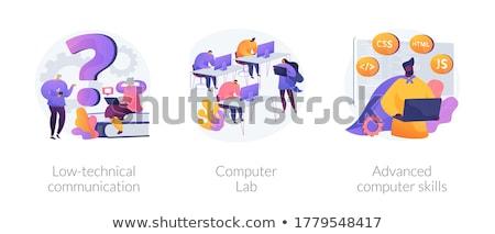 Bilgisayar gereklilik soyut vektör Stok fotoğraf © RAStudio