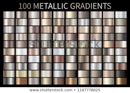 silver chrome platinum aluminium metallic gradients set Stock photo © SArts