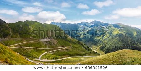 山 アスファルト 道路 風景 輸送 インフラ ストックフォト © jossdiim