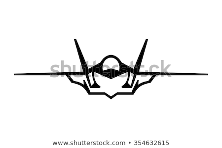 Vector modern stealth fighter Stock photo © mechanik