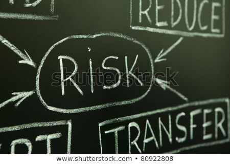 risk management flow chart on a blackboard stock photo © ivelin