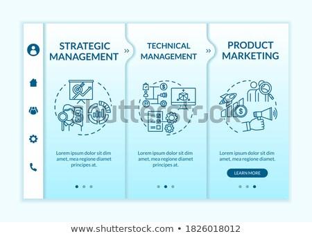 Innovative retail solutions webpage template. Stock photo © RAStudio