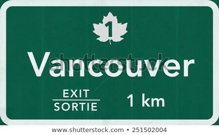 Vancouver znak autostrady wysoki graficzne Chmura Zdjęcia stock © kbuntu