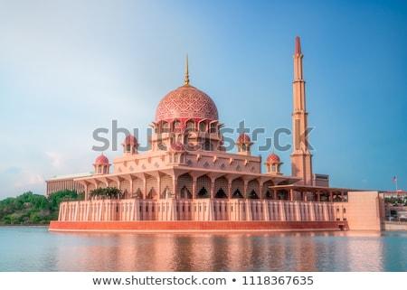 Mecset kupola belső kilátás egy égbolt Stock fotó © posterize