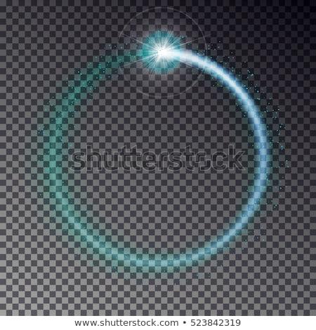 Blue round shooting star Stock photo © cidepix