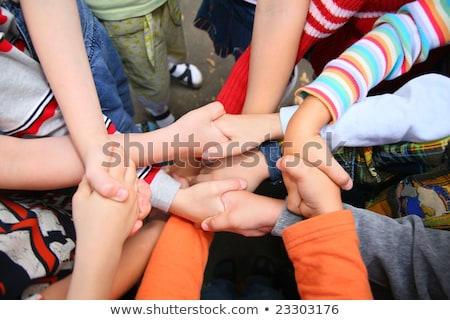 Children have crossed hands Stock photo © Paha_L