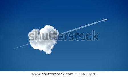Kalp bulutlar oklar soyut sevmek arka plan Stok fotoğraf © dayzeren