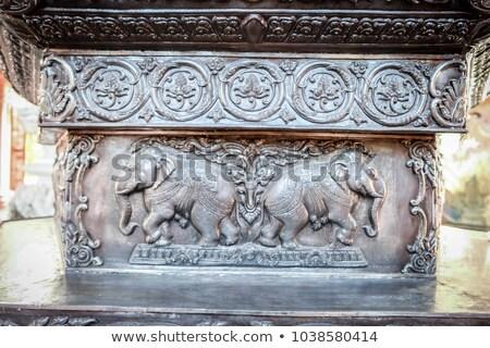 Religiosas metal hinduismo flor pintura Foto stock © smithore
