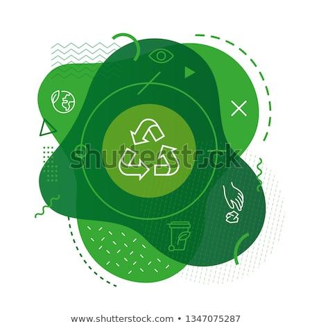 Recycling Tasten unterschiedlich Farben Internet Kunst Stock foto © simo988