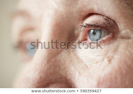 Senior oog portret vrouw Stockfoto © Edbockstock