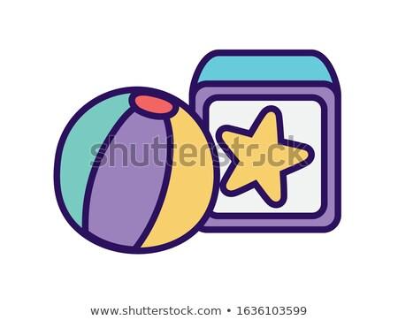beach ball button target Stock photo © nicemonkey