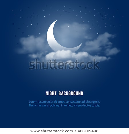 half illuminated moon stock photo © prill