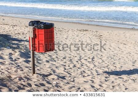 Poubelle ensoleillée plage vacances paysages public Photo stock © prill