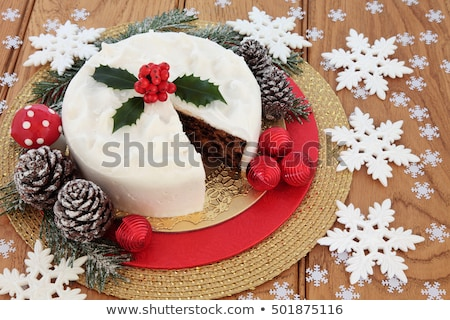 Traditional english christmas cake Stock photo © backyardproductions