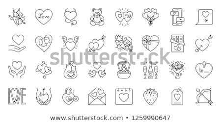 sweet cupid bear Stock photo © marinini