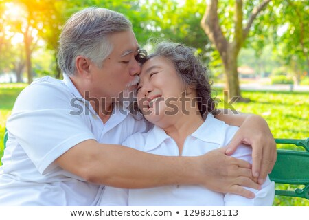 A man kissing his wife Stock photo © photography33