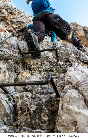 Female hiker in via ferrata Stock photo © Antonio-S