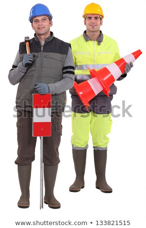 Two road workers stood together Stock photo © photography33