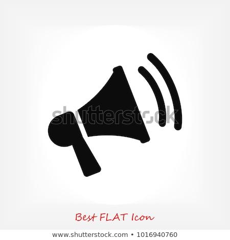 Luid spreker iconen gedetailleerd geluid witte Stockfoto © oblachko