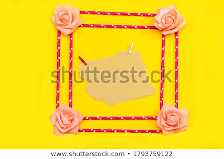 Yellow flowers with message-card Stock photo © boroda