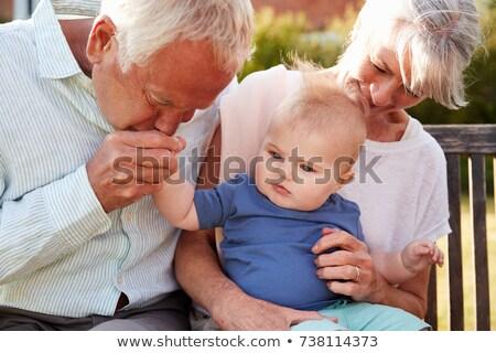 Nagymama néz unokák nő család anya Stock fotó © photography33