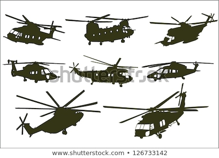 Air force. Combat helicopter. Vector illustration Stock photo © leonido