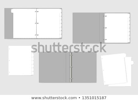 Arquivo negócio imagem artigos de papelaria escritório livro Foto stock © kitch