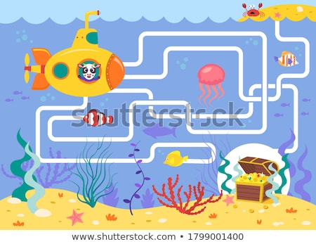 labyrinth maze puzzle Stock photo © designsstock